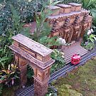 Model Washington Square Arch, Model Metropolitan Museum of Art, New York Botanical Garden Holiday Train Show, Bronx, New York by lenspiro