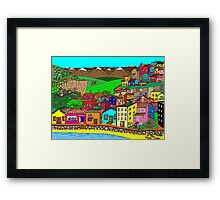 Valparaiso inspired village Framed Print