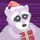 Christmas Raccoon by Wingspan91089