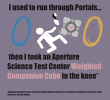 Aperture Science Weighted Companion Cube to the Knee by Bluesly