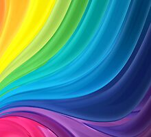 Swirling Rainbow of Paint by pjwuebker