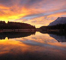 Banff National Park October Sunrise by mlmho
