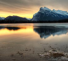 Banff Vermilion Lakes Winter Sunrise by mlmho