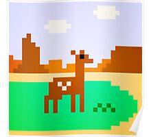 Deer in Meadow Poster