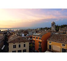 View of Sirmione with Lake Garda Photographic Print