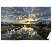 a magical marshmallow sunrise ! Poster