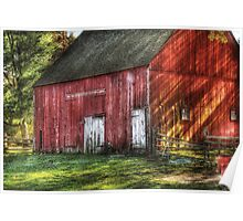 The old red barn Poster