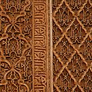 Carving at the Saadian Tombs by cherryamber