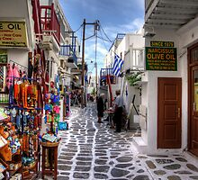 Mykonos Shops - iPad Case by Tom Gomez