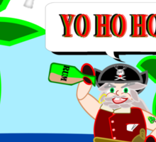 Pirate Santa says Yo Ho Ho Sticker