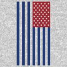 Star Spangled Banner - Red/Blue by paperboyjim
