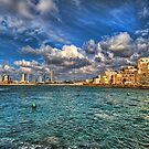 Tel Aviv Jaffa shoreline by Ronsho