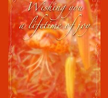 Wedding Joy Greeting Card - Turks Cap Lilies by MotherNature