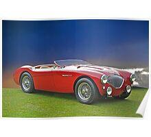 1956 Austin-Healy M100 Poster