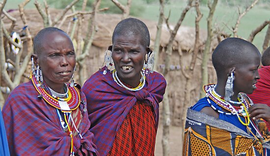 Maasai Women, Tanzania, Africa by Adrian Paul