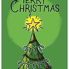 Christmas Tree Greeting Card  by TsipiLevin