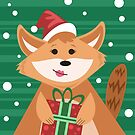 Christmas Fox by Wingspan91089