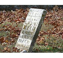 Fallen but not Forgotten Photographic Print