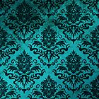 Teal Damask for iPhone & iPad by Megan Noble