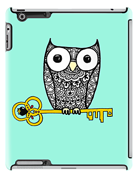 iPad Owl and Key by eleveneleven