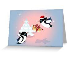 Winter Season Card - Birds Christmas Gift Greeting Card