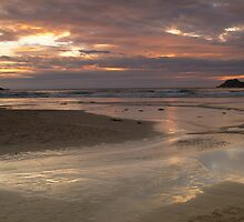 Crantock sunset, Cornwall England by Cliff Williams