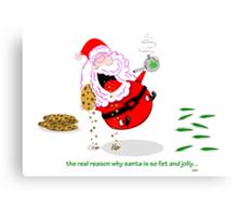 the real reason santa is so jolly. Canvas Print