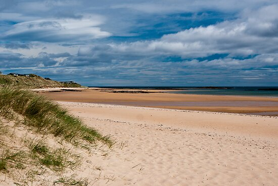 Dunstanburgh Beach, Northumberland, England by Cliff Williams