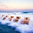 Merewether Baths, Starting Blocks by Andy Gock