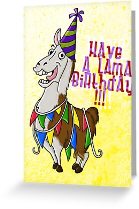 Birthday Lama by Sanne Thijs