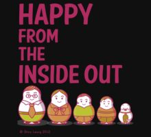 Happy from the inside out Kids Clothes