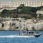 The Naval Escort Passes Alcatraz by AH64D