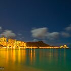 Waikiki at night by chrisfb1