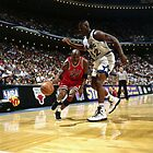 Michael Jordan VS Shaquille O'Neal, NBA  by fine-art-prints