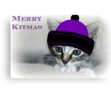 Merry Kitmas Canvas Print
