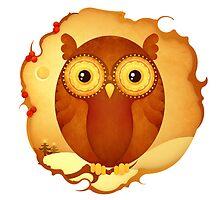 Christmas Wildlife: Tawny Owl by Jenny Lloyd