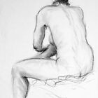 Kazart Nude Back Life Sketch by Karen Sagovac