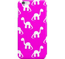 Dinosaurs in Pink iPhone Case/Skin