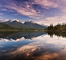 Sunset At The Vermilion Lakes by Alex Preiss