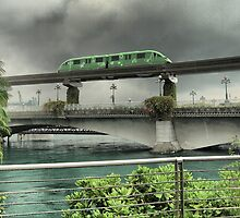 The Monorail in Green by Larry Lingard/Davis