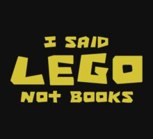 I SAID ....., NOT BOOKS by Customize My Minifig by ChilleeW