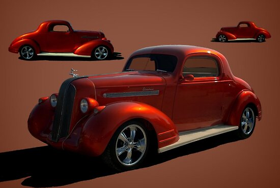 1935 pontiac custom coupe by teemack redbubble for 1935 pontiac 3 window coupe