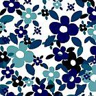 Gothic Blue Field Of Flowers by Carol-Anne Ryce-Paul