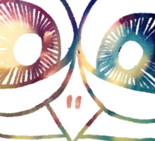 Coloured Freakout Owl Sticker