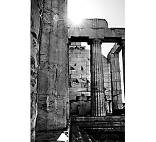 Sun Over the Acropolis Photographic Print
