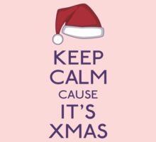 Keep calm cause it's Xmas (purple) by GraceMostrens