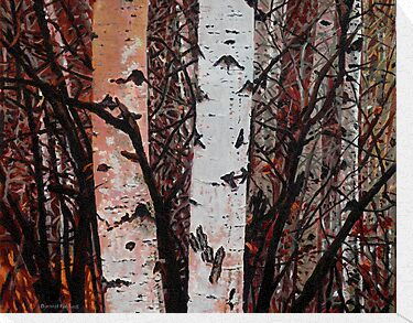 Landscape Painting - Aspen Delight - 16&quot; x 20&quot; Oil on Acrylic - SOLD by Daniel Fishback