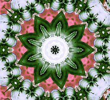 Pink and Green Floral by SRowe Art