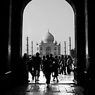 Tourists at the Taj Mahal by A. Duncan