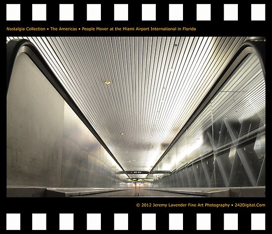 Nostalgia Collection • The Americas • People Mover at Miami International Airport in Florida by 242Digital